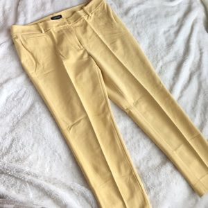 WHBM yellow slim ankle pant- 12
